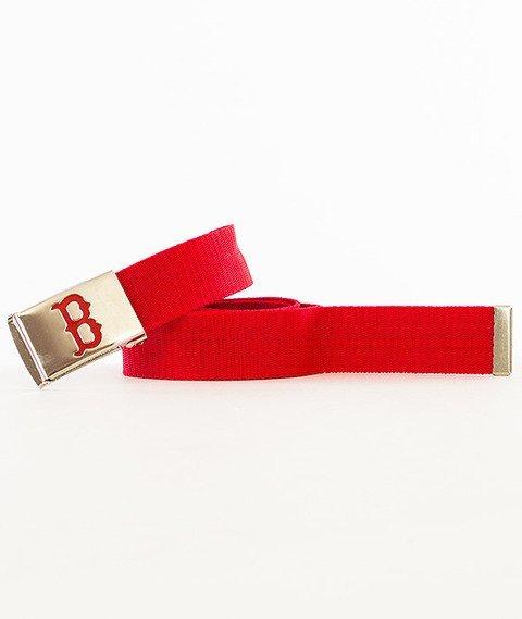 MasterDis-MLB Woven Single Boston Red Sox Pasek Czerwony/Srebrny