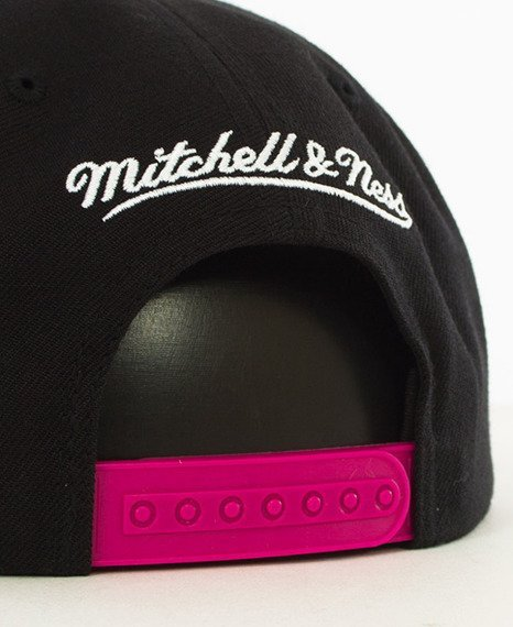 Mitchell & Ness-Miami Heat Snapback EU956 Black/Pink