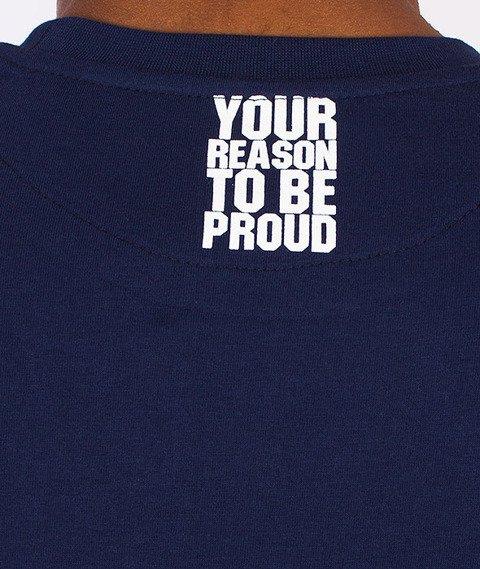 Moro Sport-Paris Stripes T-Shirt Granatowy