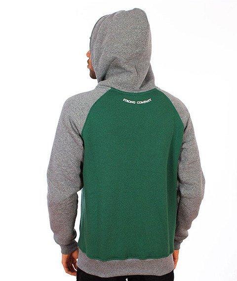 Nervous-Shield Bluza Kaptur Zip Green/Grey