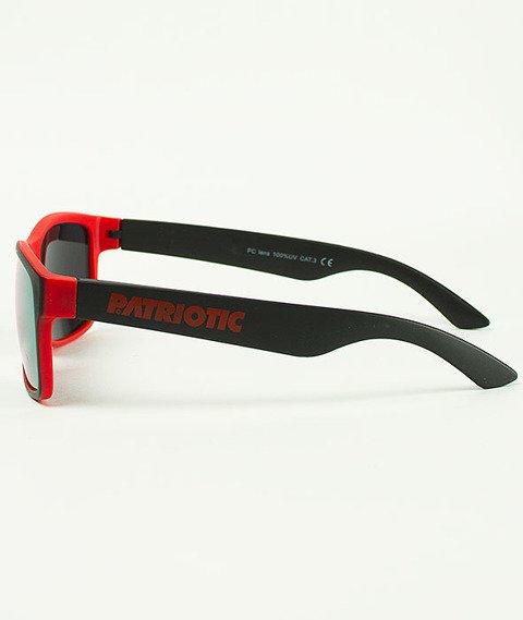 Patriotic-Futura Double Okulary Czarne/Czerwone