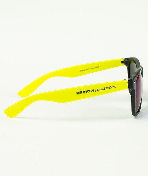 Patriotic-Futura Mat Okulary Czarne/Żółte/Granatowe