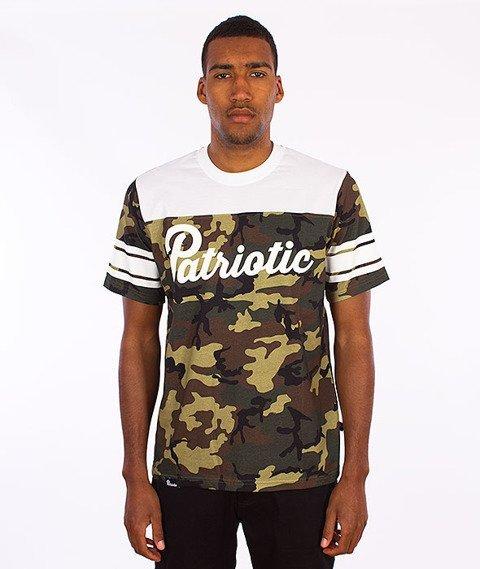 Patriotic-Shoulder T-Shirt Camo/Biały