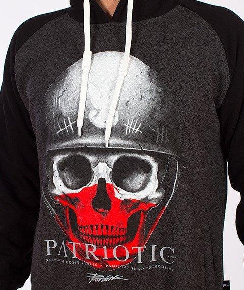 Patriotic-Skull New Kaptur Grafitowy/Czarny