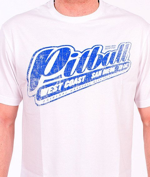 Pit Bull West Coast-Blue Brand T-Shirt White