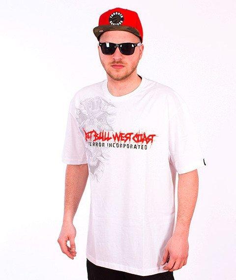 Pit Bull West Coast-Terror Skull T-shirt White