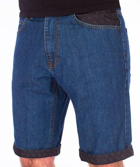 Polska Wersja-Szorty PW Jeans Spodnie Krótkie Medium Blue