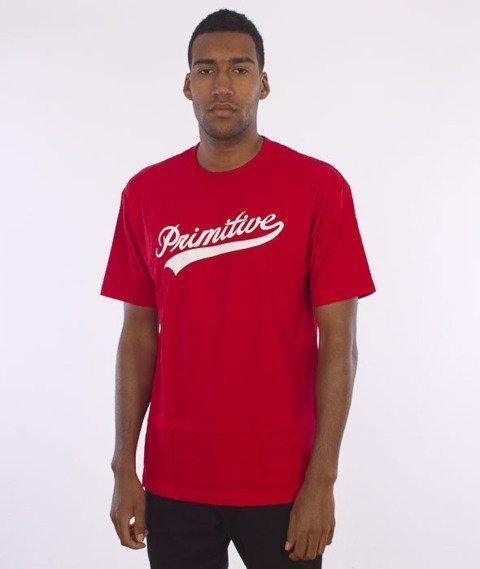 Primitive-Big Leauge T-Shirt Czerwony