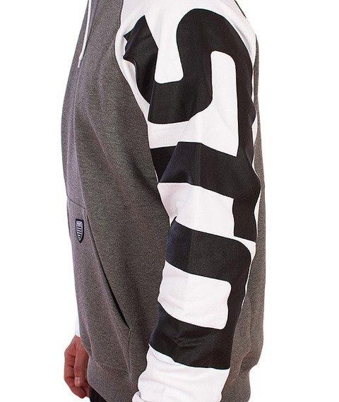 Prosto-Flyhigh Bluza Kaptur Szary/Biały