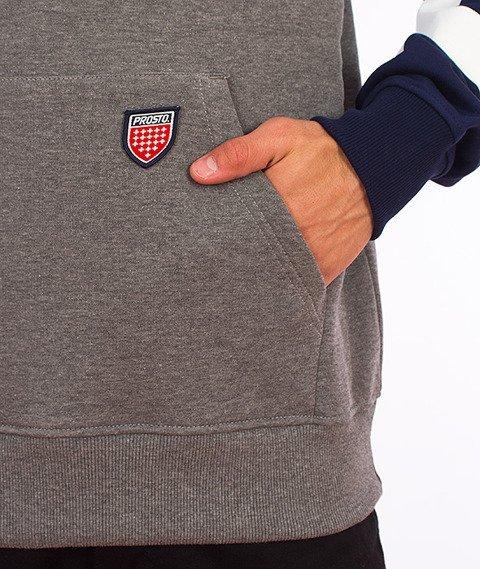 Prosto-Flyhigh Bluza Kaptur Szary/Granatowy