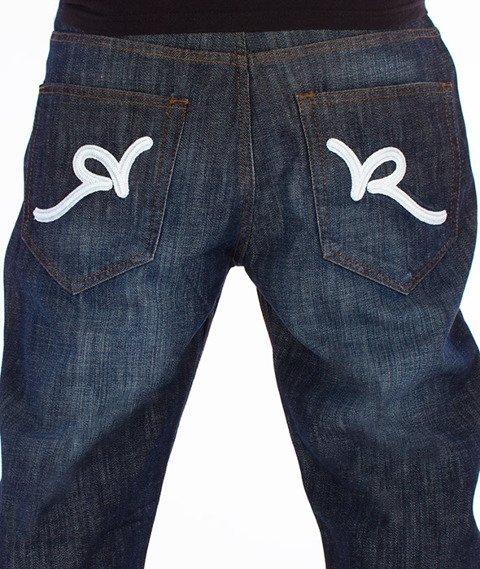 RocaWear-Dark Blue Loose Fit Spodnie Jeans R00J9914E 856