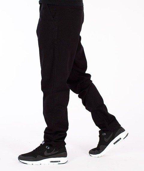 SmokeStory-Chino Slim Spodnie Czarne