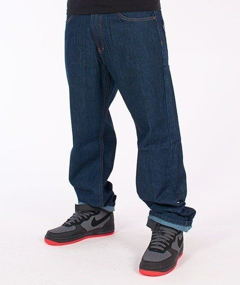 SmokeStory-Classic Regular Jeans Dark Blue