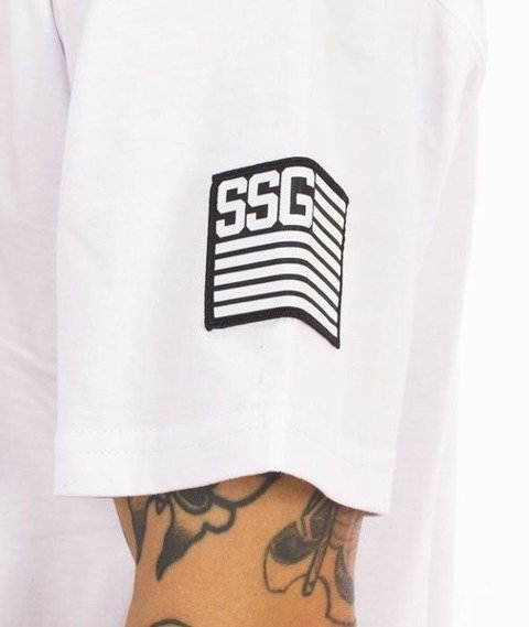 SmokeStory-Damage T-Shirt Biały