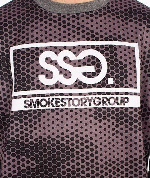 SmokeStory-Fullprint Bluza Snake Moro Grafitowa