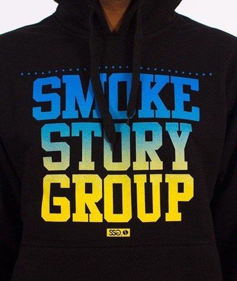 SmokeStory-Gradient Bluza Kaptur Czarna