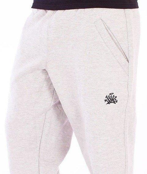 SmokeStory-Jogger Small Tag Spodnie Dresowe Szare