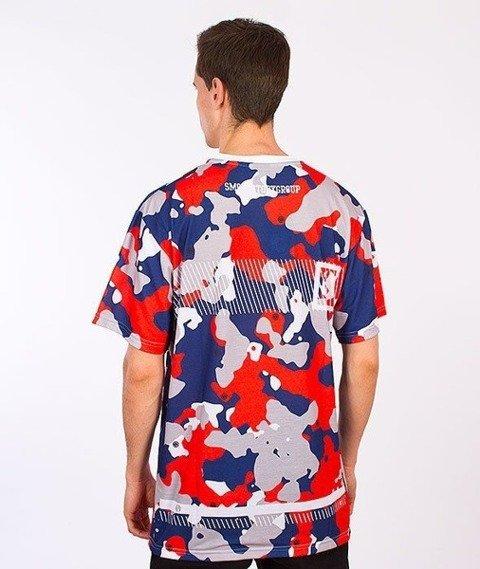 SmokeStory-Moro T-Shirt Czerwone/Niebieskie