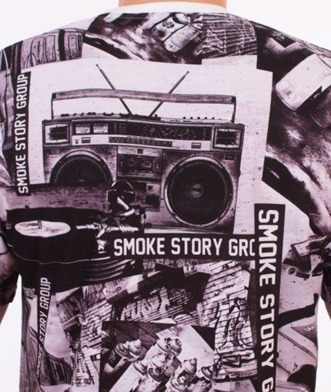 SmokeStory-Music Premium T-Shirt Multikolor