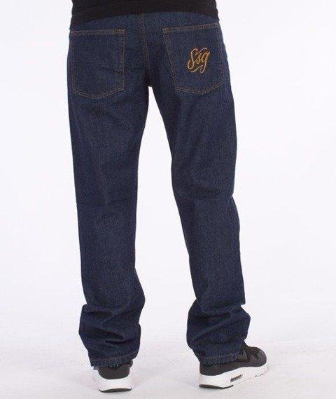SmokeStory-SSG Tag Slim Jeans Dark Blue