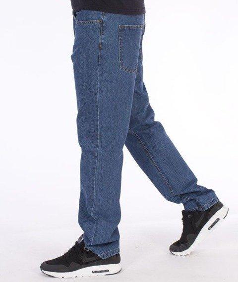 SmokeStory-Simple Slim Jeans Light Blue