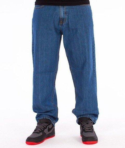 SmokeStory-Stair Pocket Baggy Jeans Light Blue