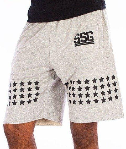 SmokeStory-Stars Krótkie Spodnie Szare