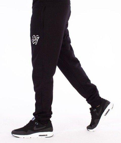 SmokeStory-Tag SSG Slim Spodnie Dresowe Czarne