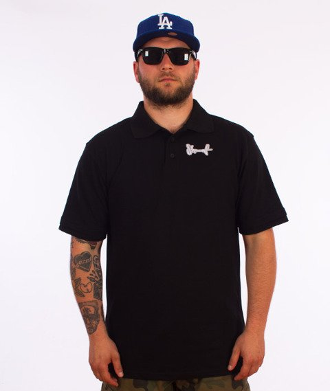 Stoprocent-Tag16 Polo T-Shirt Czarny