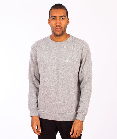Stussy-Back Arc Crewneck Grey Heather