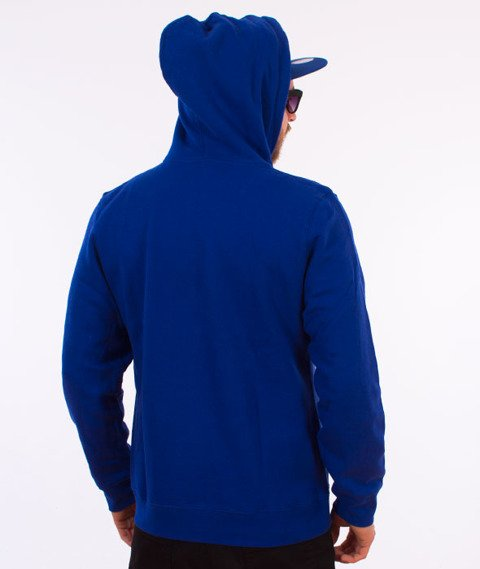 Stussy-Checker Stock Hood Bluza Kaptur Dark Blue