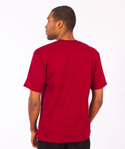 Stussy-Label Stock Tee Dark Red