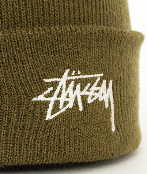 Stussy-Stock Fa17 Cuff Beanie Czapka Zimowa Olive