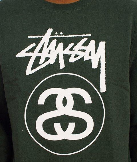 Stussy-Stock Link Crewneck Zielony