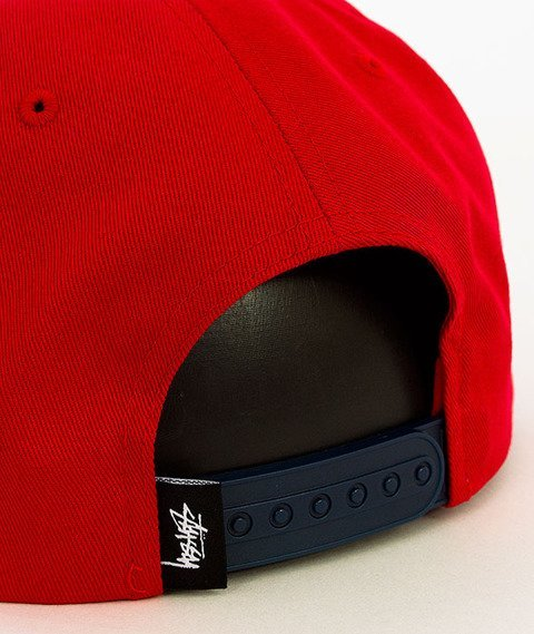 Stussy-Stock Lock SP16 Snapback Red
