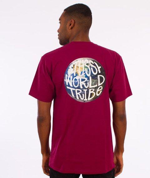 Stussy-Swt Globe T-Shirt Bordowy