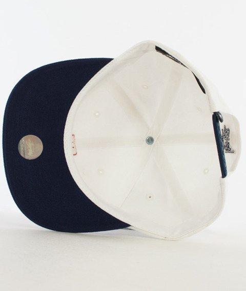 Stussy-Vintage S Snapback Biały
