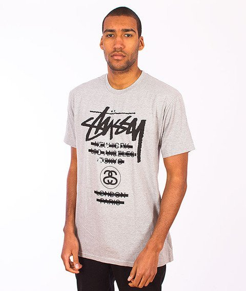 Stussy-WT Taped Tee Grey Heather