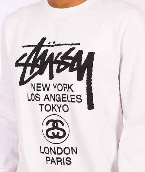Stussy-World Tour Crew White