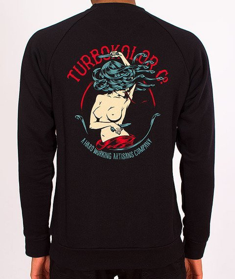 Turbokolor-Crewneck Black SS16