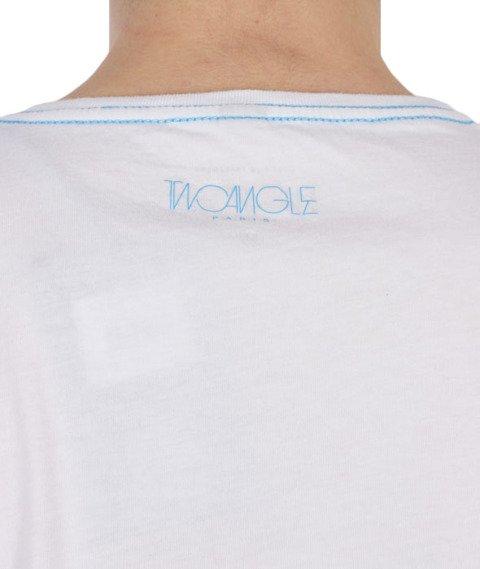 Two Angle-Yatack T-Shirt White/Blue