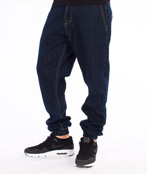 Unhuman-Klasyk Jogger Spodnie Jeans Dark Blue