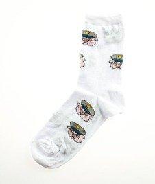 Blud-Uniform Pig Quarter Skarpetki Białe
