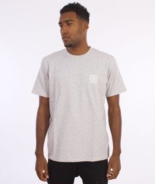 Carhartt-State Logo T-Shirt Cotton Ash Heather/ White