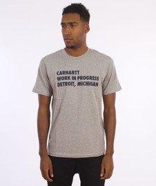 Carhartt WIP-Bold Type T-Shirt Grey Heather/Navy