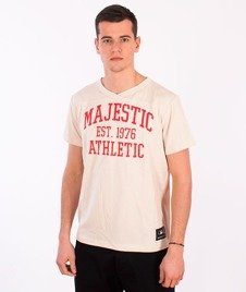 Majestic-Majestic Athletic T-shirt Ecru
