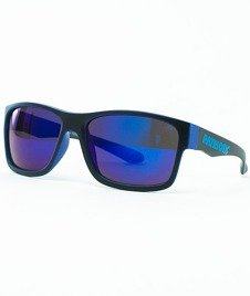 Patriotic-Futura Mat Okulary Czarne/Niebieskie/Niebieskie