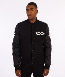 RocaWear-ROC+ Leather Sleeves Jacket Kurtka Bomber Czarna