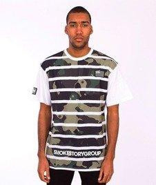 SmokeStory-Moro Lines T-Shirt Biały