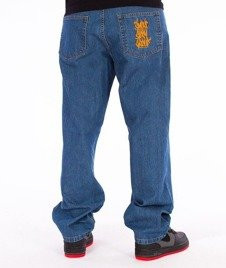 SmokeStory-Smoke Tag Baggy Jeans Light Blue